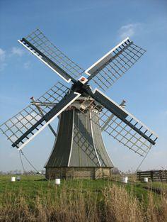Polder mill De Volharding, Jislum, The Netherlands