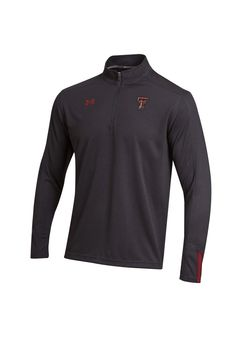 Texas Tech Red Raiders Under Armour Jacket | Mens Black Dominance 1/4 Zip