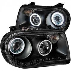 Anzo 121251   2007 Chrysler 300 Black CCFL Halo Projector Headlights for Sedan
