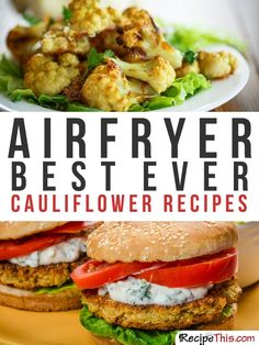 Airfryer Recipes | Cauliflower Philips Airfryer Recipes For The Complete Beginner from RecipeThis.com