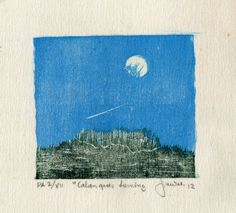 Les Calanques de Luminy - Xilogravura - Linguagem da luz - Terra Fotolog
