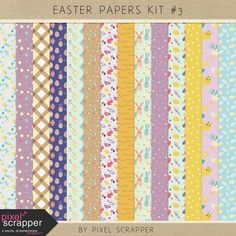 Easter Papers Kit #3 | digital scrapbooking | spring
