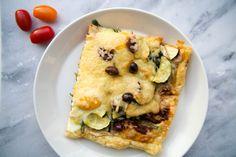 Recept: Plaattaart met spinazie en courgette