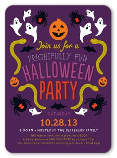 Frightfully Fun 5x7 Greeting Card | Halloween Invitations