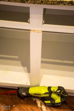 Sliding shelves are awesome, but the prices are crazy! These DIY pull-out shelves for the kitchen are attractive, durable, and a fraction of the cost! Pull Out Kitchen Shelves, Diy Pull Out Shelves, Slide Out Shelves, Sliding Shelves, Diy Kitchen Island, Diy Kitchen Cabinets, Kitchen On A Budget, Kitchen Ideas, Kitchen Hacks
