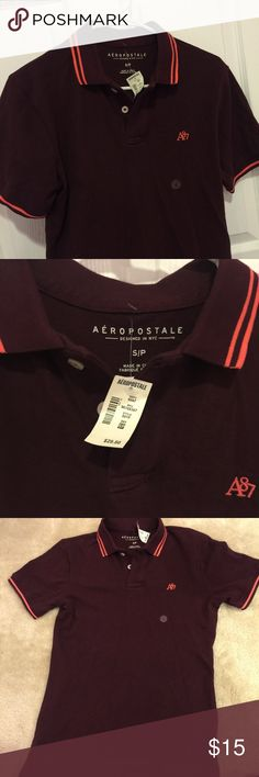 ❤️Sale ❤️Aeropostale polo shirt for men Brand new Aeropostale polo shirt for men in size S❤️ New with tag ❤️ In the dark red color Aeropostale Shirts Polos