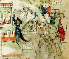 Wolfram <von Eschenbach>: Willehalm (Fragment) Sachsen (Umkreis Quedlinburg/Halberstadt), um 1270 - 1275 Cgm 193,III Folio 5r