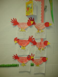 Little Red Hen - plate craft