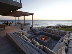 Jardines fuego para crear ambientes modernos y únicos.Ideas para crear espacios precaticos y acogedores en patios y terrazas.Fotos de pozos de fuego.