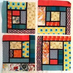 A Few Scraps: Shadow Seams Log Cabin experiment