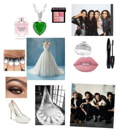 """Jade and Niall's wedding"" by alpha-angel98 on Polyvore featuring Badgley Mischka, Lancôme, Kobelli, Givenchy, Lime Crime and Victoria's Secret"