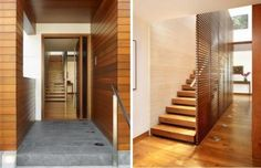 modern tropical house interior wood architecture-an option if you want o cover the stairs