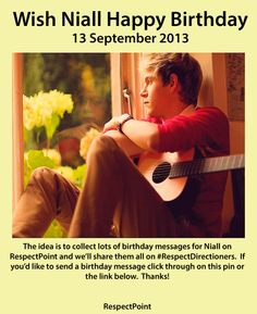 Wish Niall happy birthday on RespectPoint and we'll share all your messages on #RespectDirectioners. Click the image or this link www.respectpoint.... if you'd like to join in. Thanks!
