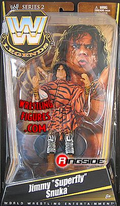 RINGSIDE COLLECTIBLES WWE Toys, Wrestling Action Figures, Jakks Pacific, Classic Superstars Action F: JIMMY SNUKAWWE LEGENDS 2WWE Wrestling Action Figure