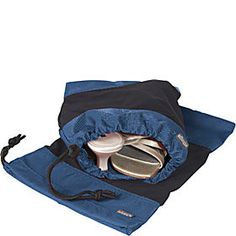 eBags Shoe Sleeves - I use one for my hiking shoes and the other my running shoes. They fit my size seven shoes perfectly! Travel Luggage, Travel Backpack, Men's Shoes, Baby Shoes, Dress Shoes, Suitcase Bag, Thing 1, Bow Sneakers, Business Outfits