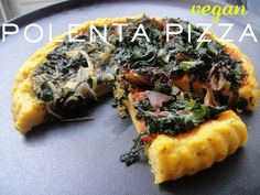 Vegan polenta pizza
