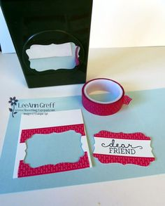 Cool Washi Tape & Decorative Label Punch trick for your Birthday Blooms greeting