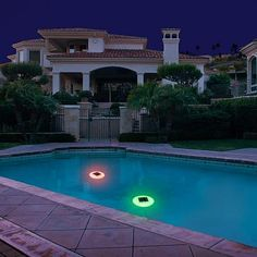 Techko Multicolor Solar Pool Lights 2-Pack Techko's Multi-color Solar Pool Lights provide a new self-sustainable way to have decorative lighting in any pool or small body of water, while saving on energy costs. Color shifting LED lights allow for a more entertaining ambience wherever it is placed. Once the pool light has been turned on, it will charge in direct sunlight during the day and automatically light up at dusk.  What You Get       (2) Solar Pool Lights Solar Pool Lights, Floating Pool Lights, Spa Heater, Pool Heater, Cool Swimming Pools, Best Swimming, Inground Pool Covers, Swimming Pool Accessories, In Ground Pools