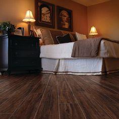 floor tiles by American Marazzi Tile. Marazzi American Heritage in Spice. Wood Look Tile Floor, Stone Look Tile, Marazzi Tile, Wood Grain Tile, Bedroom Design Inspiration, Room Tiles, Rustic Wood, Home Projects, Hardwood