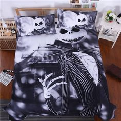 Cheap king size, Buy Quality duvet cover directly from China bedding set Suppliers: Black White The Nightmare Before Christmas Bedding Sets BedspreadS Bedclothes Duvet Covers Adult's Twin Full Queen King Size Dark Bedding, Linen Bedding, Bedding Sets, Bed Linens, 3d Bedding, Galaxy Bedding, Floral Bedding, Boho Bedding, White Bedding