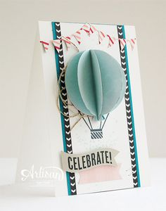 Bring your projects to life by adding a 3D element. The balloon framelits sure make an adorable hot air balloon.