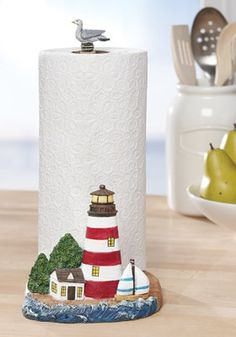 Nautical Lighthouse Paper Towel Holder
