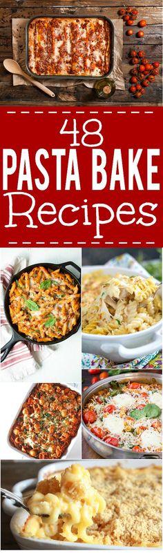 48 Pasta Bake Recipes -Make these simple, cheesy, saucy Pasta Bake Recipes…
