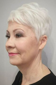 Grey Pixie Haircuts for Women Over 60 in 2021 Mom Haircuts, Short Curly Haircuts, Bob Haircuts For Women, Older Women Hairstyles, Pixie Haircuts, Pixie Hairstyles, Trendy Hairstyles, Short Hair Older Women, Haircut For Older Women