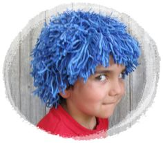 Children Blue Yarn Wig for Halloween costume Party or par ComiQ, $35,00