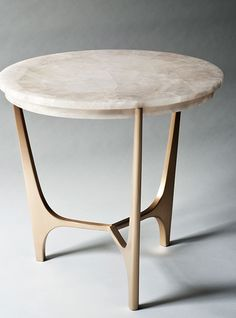 ATHENA SIDE TABLE 711mm (Dia) X 680mm (H)Rock crystal top resting on a hand-cast bronzed base. Custom finishes…