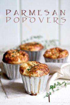 Parmesan Popover Recipe - A must have for any meal.  Once your family has a popover, they will fight over the last one no matter how many you make!