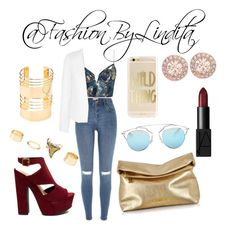 gold accesories by leidylindita on Polyvore featuring polyvore fashion style Zimmermann Topshop River Island Michael Kors Charlotte Russe Givenchy Christian Dior NARS Cosmetics clothing