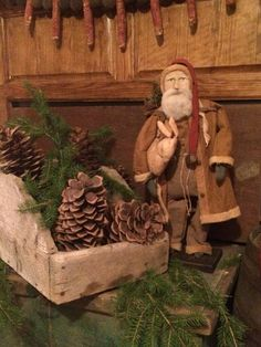 Santa with Rabbit - Arnett's Country Store