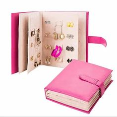 Jewelry Book Earring Storage For 84 Pairs #VistaShops
