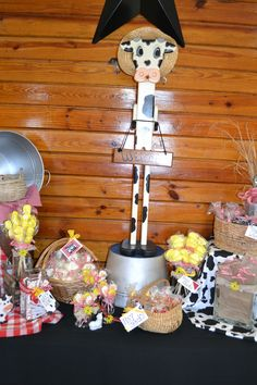 Farm party candy station....