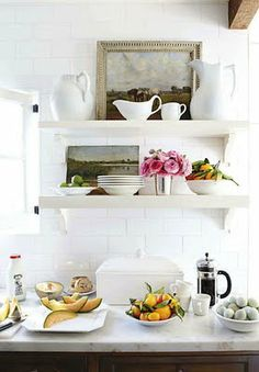 How lovely this would be to  see every time i walk into the kitchen!