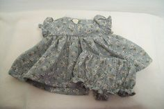 Baby Doll Dress with White Floral and Grey by leoniescreations1, $10.95 #bestofetsy #handmadebot #etsybot #teamhandmade