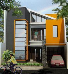 Desain Rumah Minimalis 2 Lantai sederhana Mewah
