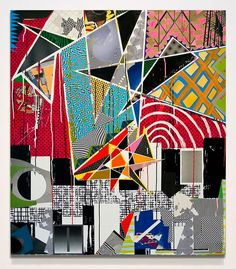 """=[5HocKW4V3]=. synthetic polymer, fabric, ball point pen, paper, on canvas 50"""" x 44"""" 2012"""