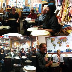 Great turn out at drum circle tonight including the group Armadillo! Awesome jams happening still going on until 9pm tonight :) #delmar #fairtrade #drumcircle #musicgroups #publicmusic #sandiego #sundayfunday