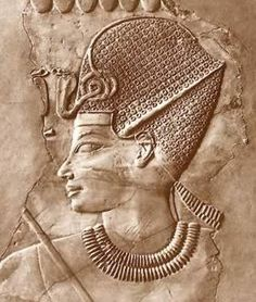 Amenhotep III wearing the Blue Crown which was a sign of war and worn in ceremonies