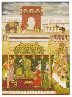 The Emperor Bahadur Shah I enthroned, attributable to Bhavanidas, Mughal, circa 1707 | lot | Sotheby's