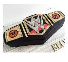 WWE Belt Cake Wrestling Cake, Wrestling Party, Wwe Cake, Wrestling Birthday Parties, Wwe Party, Wwe Belts, Sports Wedding, Sons Birthday, Birthday Ideas