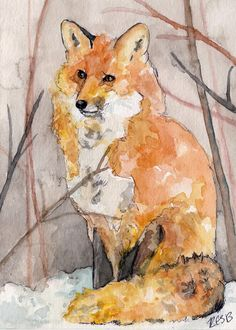 This is a fine art, giclée print, from my original watercolor painting, Swift the Fox, 5 x 7    PRINT DESCRIPTION  * Prints professionally