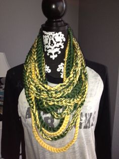 Baylor Green and Gold Scarf on Etsy, $30.00