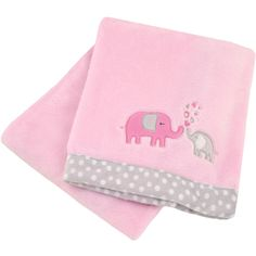 Elephant Plush Blanket ($17) ❤ liked on Polyvore featuring home, children's room, children's bedding and baby bedding