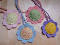 lavender filled flower necklace tutorial