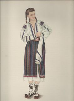 "Popular Roumanian Dress A Work Completed and Encouraged by the Initiative of His Majesty King Carol II Under the Care of Professor Dimitri Gusti By Alexandrina Enachescu-Cantemire Printed by ""Scrisul Romanesc Craiova, 1939 Folk Costume, Costumes, Folk Embroidery, Historical Clothing, Traditional Dresses, Romania, Decoupage, Dance, Popular"