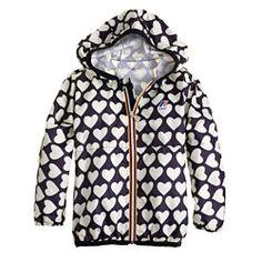 Girls' K-Way® for crewcuts Claude Klassic jacket in heart stack