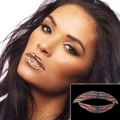 Oggi ti senti una Tigre? Fallo notare con questo tattoo temporaneo - Lips Tattoo Temporary - Tigre